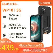 OUKITEL WP10 5G 48MP Quad caméra NFC SmartPhone Version mondiale 8GB + 128GB 8000mAh téléphone portable 6.67 FHD plein écran