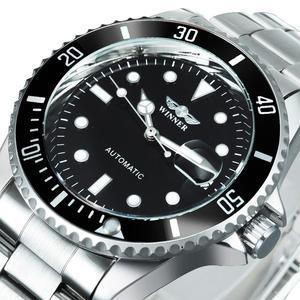 Image 1 - זוכה הרשמי הקלאסי אוטומטי שעון מכאני עסקי גברים שעונים למעלה מותג יוקרה פלדת רצועת לוח שנה שעוני יד חמה