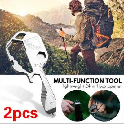 24 В 1 EDC комплект Нержавеющаясталь мини многофункциональная отвертка ключ Форма щелевые брелок с отвертками карманный инструмент для ремо...