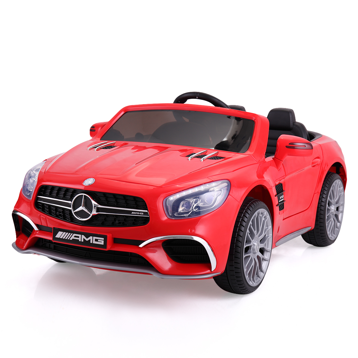Children Ride On Car 12V Power Battery AMG GT Licensed Mercedes Benz Kids Toy With Remote Control USB MP3 Player Function CL5772