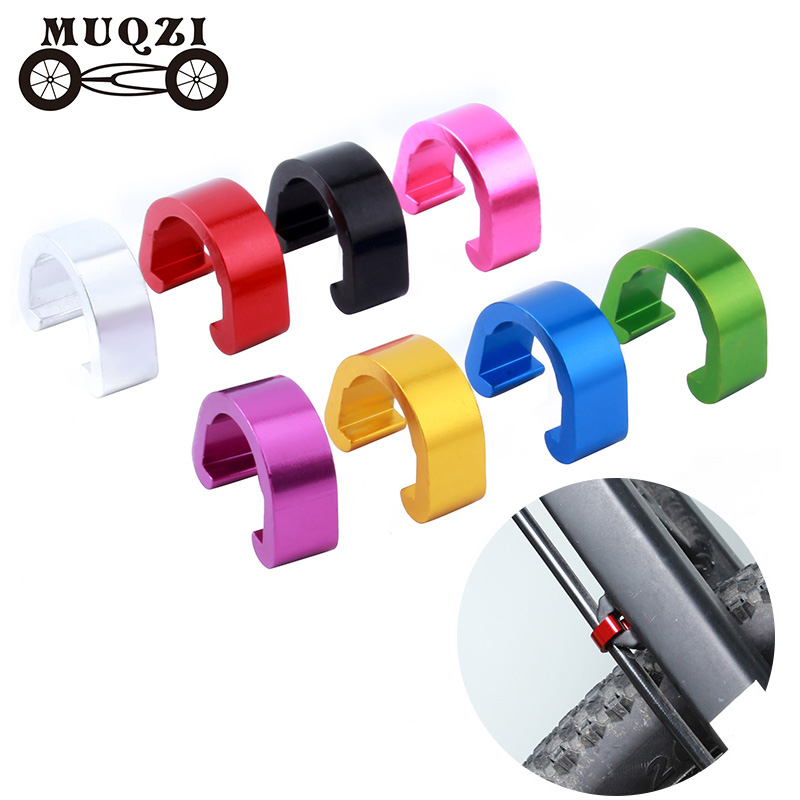 MUQZI 10pcs Bicycle Brake Derailleur Cable Line Ring Clasp C Shape Buckle Tubing Seat Frame Fixed