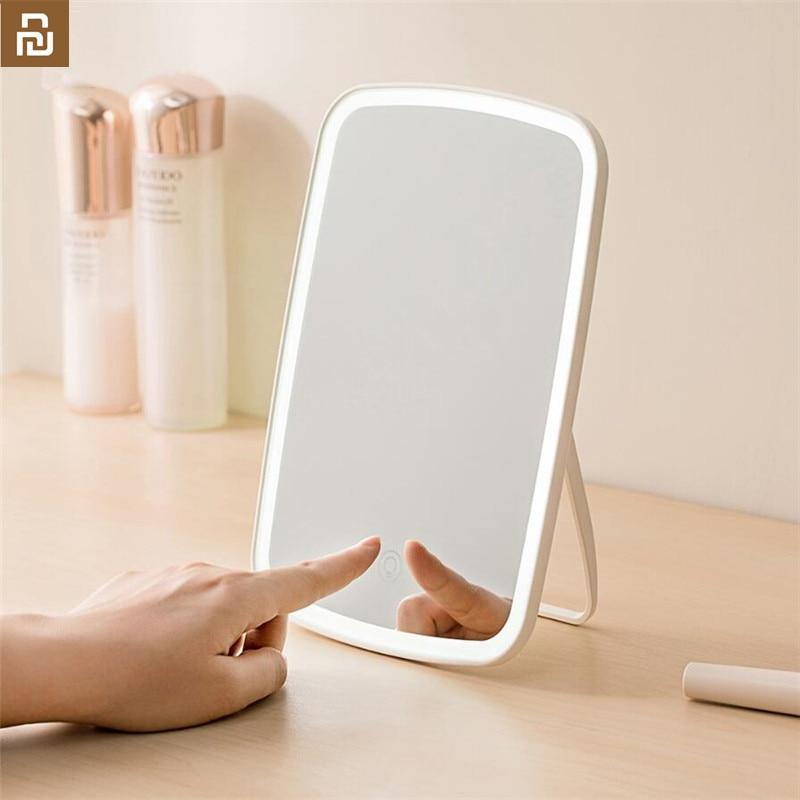 Original Youpin Jordan judy Intelligent portable makeup mirror desktop led light portable folding light mirror dormitory desktop(China)