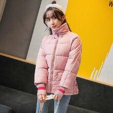 Yeni sonbahar ve kış aşağı ceket kadın gevşek ultra kısa ceket firecotton dolgulu giysiler moda studen