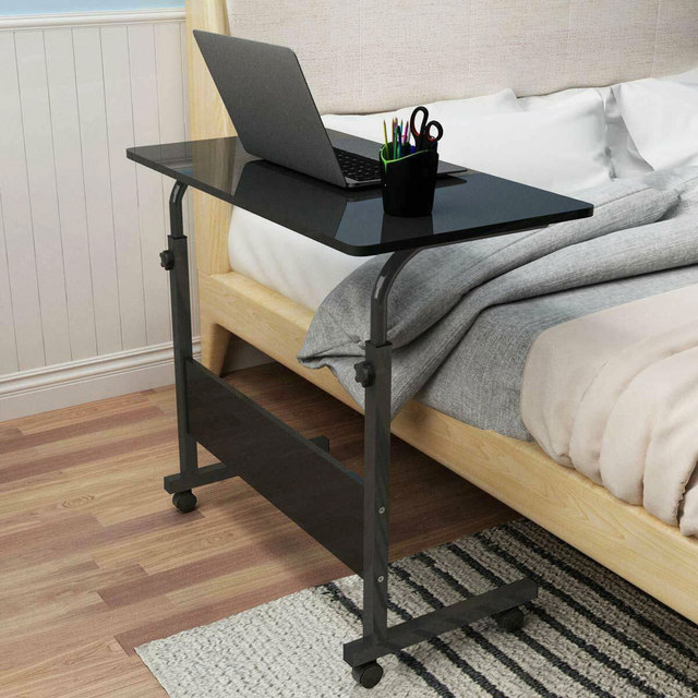 Adjustable Movable Laptop Stand Desk Portable Laptop Table Computer Desk Notebook Laptop Desk Can be Lifted Bed Side Table 1