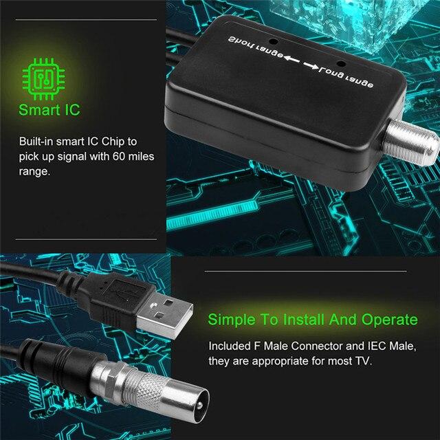 200Mile Digital TV Antenna Amplifier HDTV Antena TV Radius Aerial Surf Fox DVB-T2 DVB-T TV Interior Antennas Amplifier