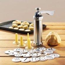 Инструменты для выпечки, Ручной пресс для печенья и печенья, набор штампов, инструменты для украшения торта, производитель с 4 насадками, 20 формочек для печенья, 063