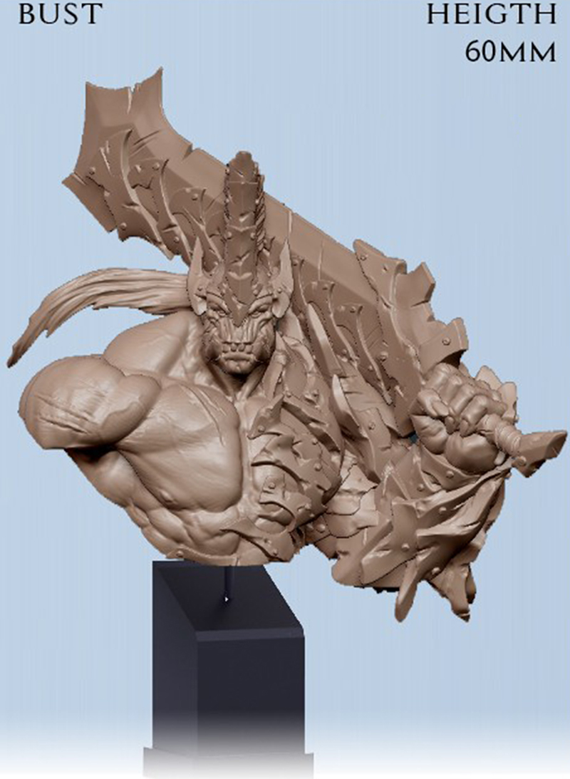 1/10  60mm  Ancient Fantasy Warrior With Sword Bust  (NO BASE ) Resin Figure Model Kits Miniature Gk Unassembly Unpainted