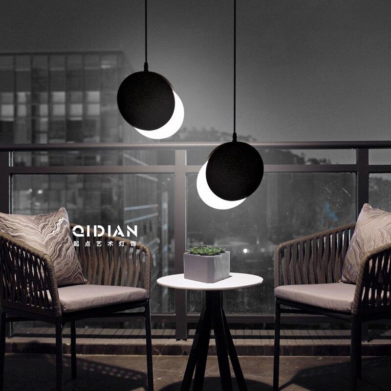 Işıklar ve Aydınlatma'ten Kolye ışıkları'de Iskandinav basit Bar asılı lamba renkli kolye ışık restoran  yatak odası  başucu ışıkları  Modern sanat ve yaratıcı aydınlatma title=