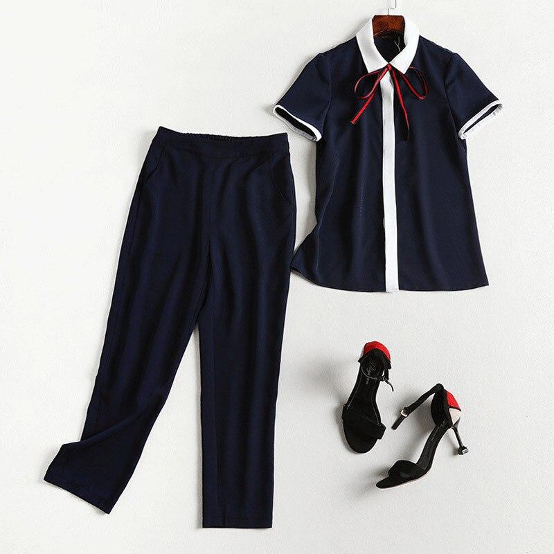 Lan Mu Square Micro Large GIRL'S Size Large Size Dress Summer Wear Set Slimming Large GIRL'S Capri Pants Two-Piece 7703