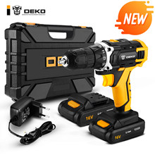 DEKO New Banger 20V Cordless Drill Electric Screwdriver Mini Wireless Power Driver DC Lithium-Ion Battery 3/8-Inch 2 Speed(China)
