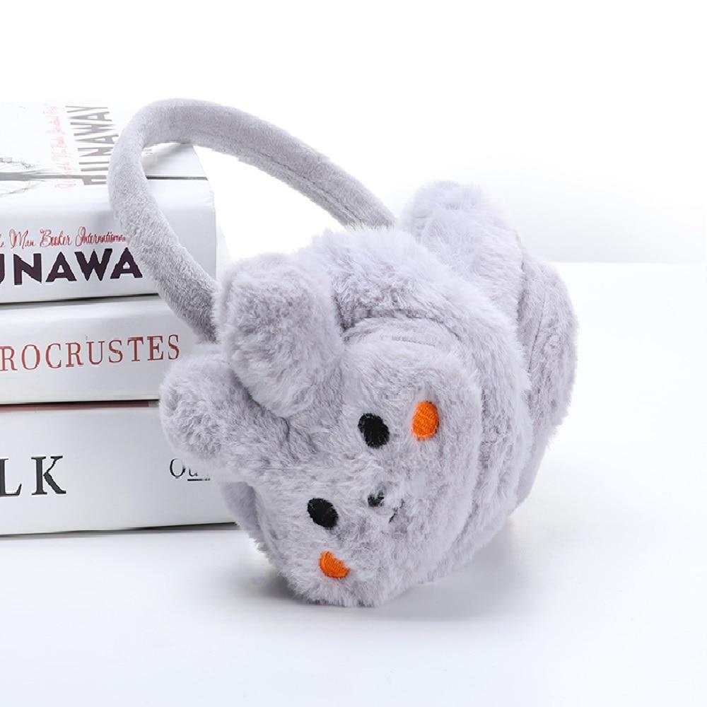 Women's Girls Winter Warm Cute Rabbit Plush Earmuffs Earwarmers Ear Muffs Earlap Women Ear Protect Cute Faux Soft Fluffy Earcap
