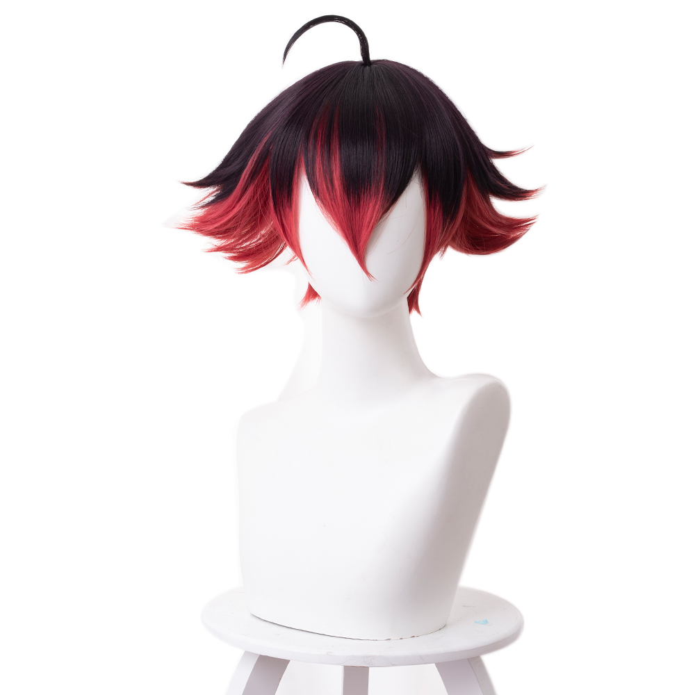 Image 4 - Anime PROMARE Cosplay Gueira Wig 33cm Short Heat Resistant Synthetic Hair Halloween Cosplay WigsAnime Costumes   -
