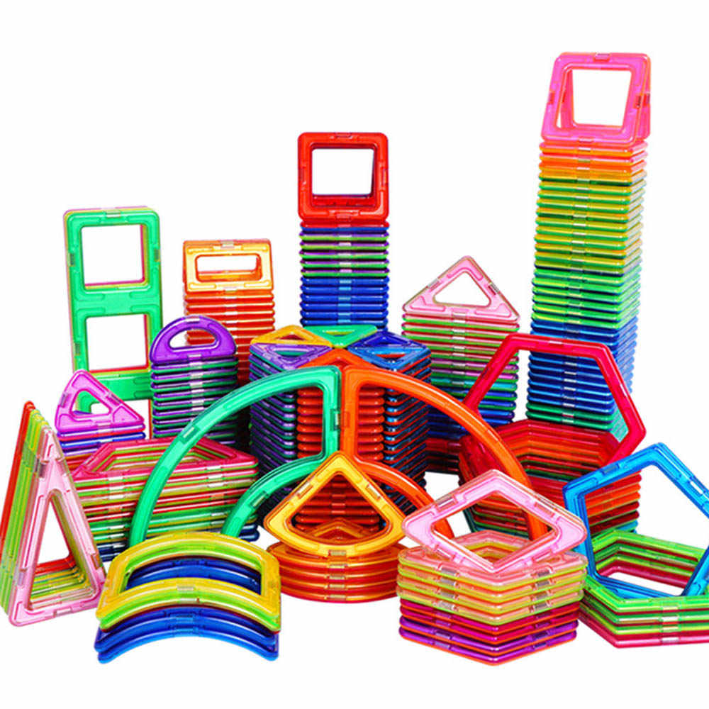 1PCS Big Size Magnetic Blocks Construction Toys Magnetic Designer Bricks Accessories Model & Building Toys for Children Gifts