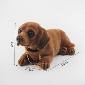Image 4 - Husky Beagle muñeco de decoración para el Interior del coche, adorno de sobremesa