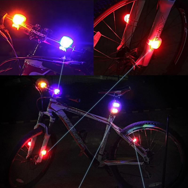 Image 4 - Bicycle Front Light Waterproof Double LED Taillight Outdoor Night Riding MTB Bicycle Safety Warning Light Bike Lamp TSLM1-in Bicycle Light from Sports & Entertainment
