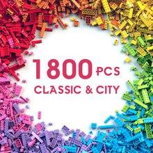 250-1800 sztuk dzieci klasyczne klocki budowlane miasto DIY kolorowe luzem cegły Model figurki dla chłopców dziewcząt zabawki edukacyjne dla dzieci