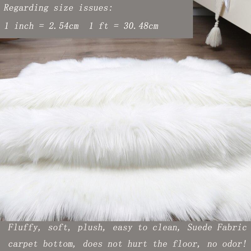 Plush Soft Sheepskin Long Hair Rug Rugs