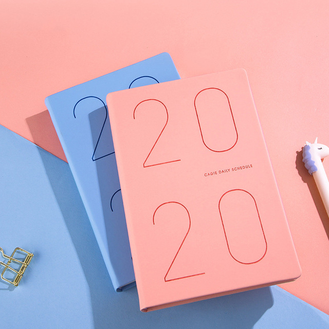 Agenda 2021 Planner Organizer Diary A5 Notebook and Journal Weekly Monthly Note Book Travel Notepad School Business Handbook NEW