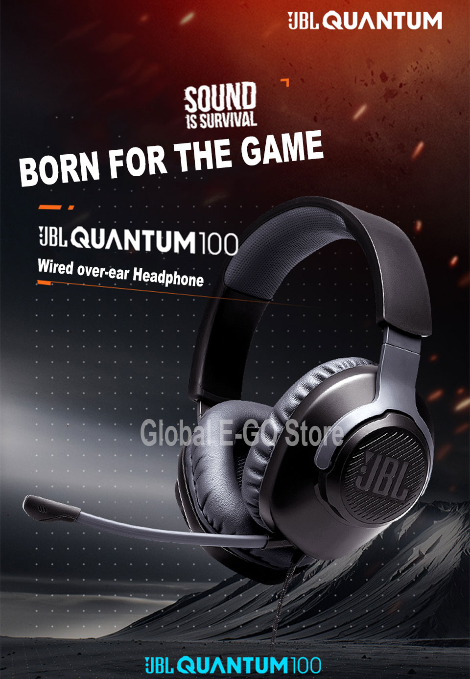 JBL Quantum 100 Wired Gaming Headset 6