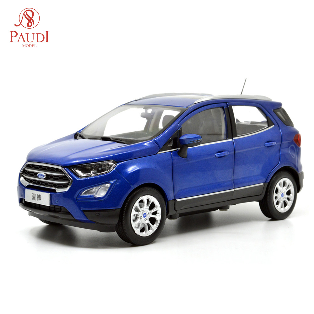 1/18 1:18 Scale Ford Ecosport 2018 Blue Static Simulation Diecast Alloy Model Car Gifts Collections