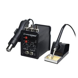 Image 4 - 2 ב 1 Eruntop 8586 + תצוגה דיגיטלית חשמלי הלחמה איירונס + אוויר חם אקדח טוב יותר SMD עיבוד חוזר תחנת משודרג 8586 מתכת Stand