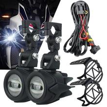 Światła przeciwmgielne motocyklowe światło pomocnicze LED światła przeciwmgielne montaż lampa do jazdy 40W dla BMW R1200GS ADV F800GS F700GS F650GS K1600