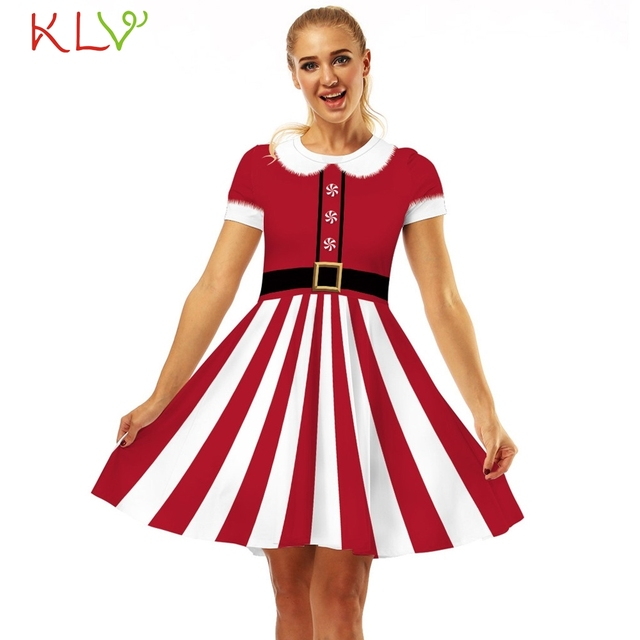 Christmas Dress Cosplay Snowman Vintage Print Dress New Year Costume Elegant Evening Party Dress Women Clothes Winter Dress 19Ot