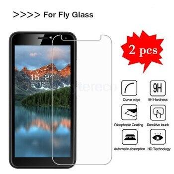 Перейти на Алиэкспресс и купить 2 шт. закаленное стекло для Fly Life Geo стекло протектор экрана 9H 2.5D мобильный телефон Защитная ЖК-пленка для Fly Sky power Plus 5000 стекло