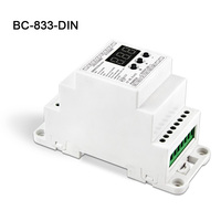 BC-833-DIN DC12-24V 입력 8A * 3CH 출력  DIN 레일 3CH 정전압 DMX512/1990 디코더 컨트롤러 led 스트립 라이트 램프