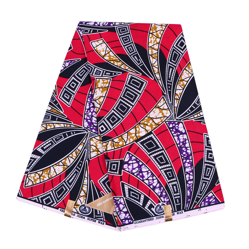 2019 Veritable Guarantee Real Dutch Wax Colourful Print Fabric African Nigeria Ankara Wax 6Yards\set