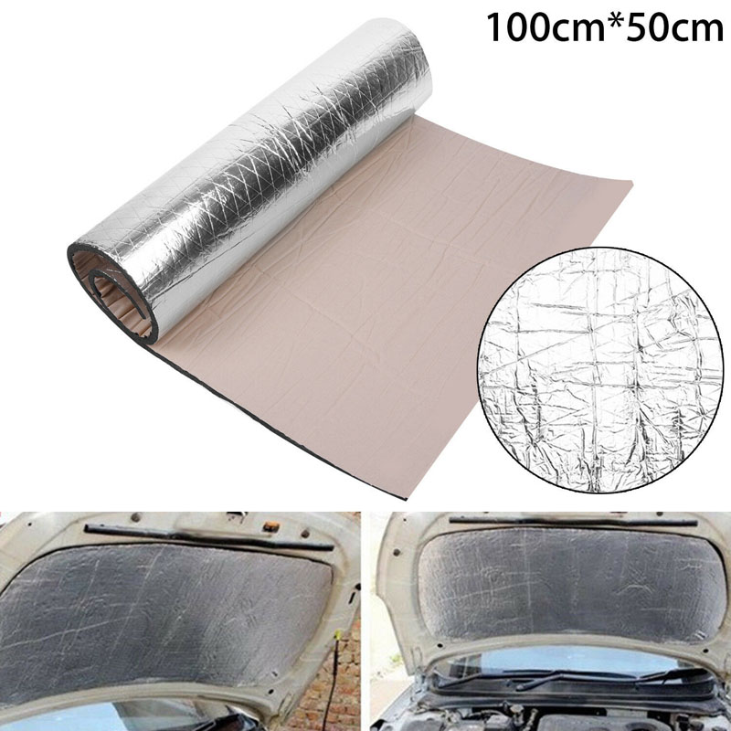 1PC Auto Car Sound Proofing Deadening Closed-Cell Foam Insulation Heat Mat Waterproof Fireproof Interior Accessories