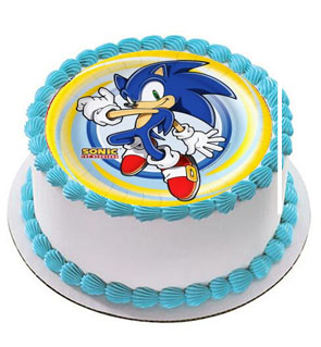 Surprising Sonic The Hedgehog Cake Topper Edible Wafer Paper Baby Boy Funny Birthday Cards Online Bapapcheapnameinfo
