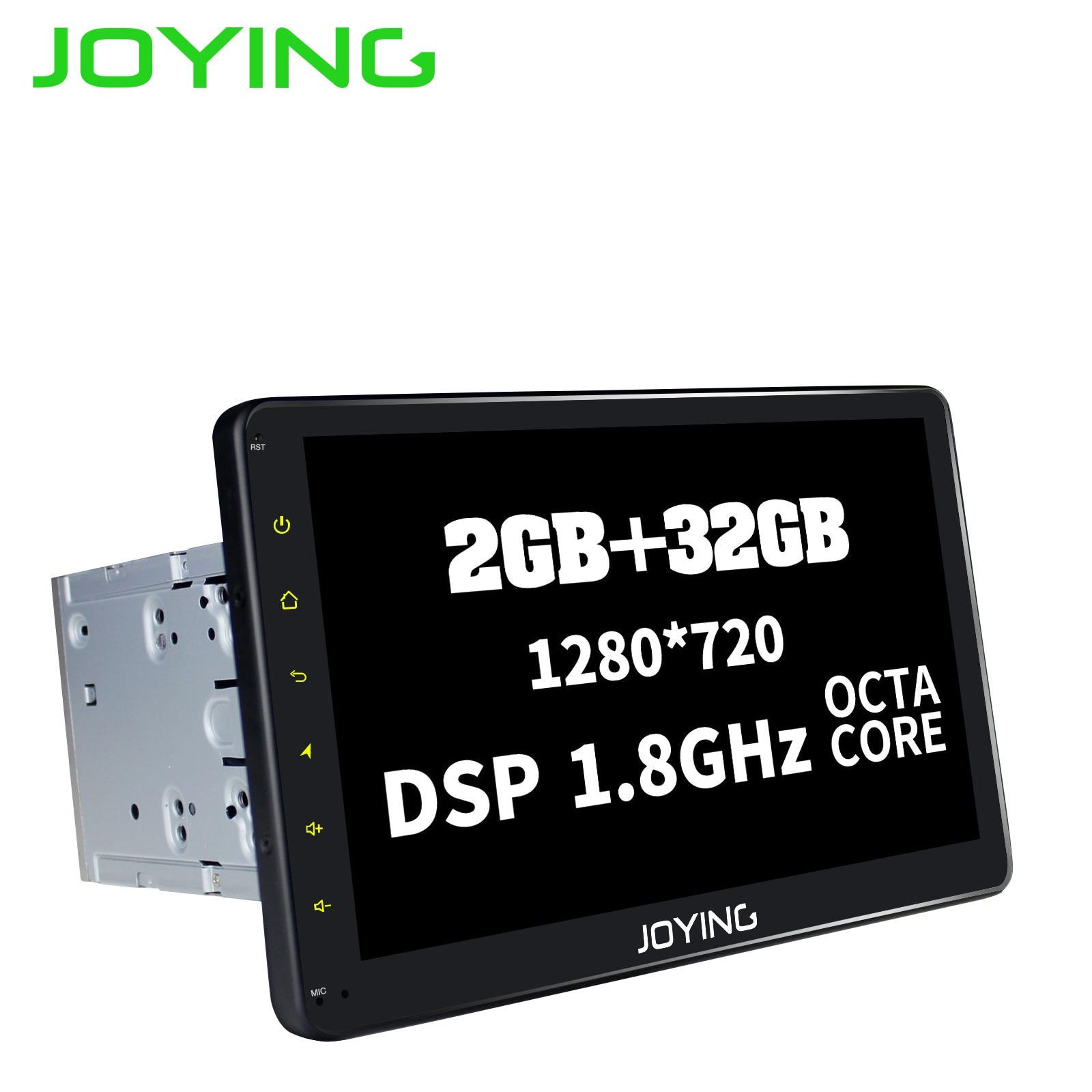 2 JOYING Android 8.1 din Autoradio Stereo Multimedia Player de Rádio GPS 10.1 ''Tela IPS HD Unidade de Cabeça com DSP octa Núcleo 32GB ROM