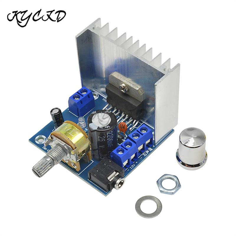TDA7297 Digital Amplifier Board Dual-Channel 15W+15W AC/DC 12V Audio Amplifier 10-80W With Volume Control 2.0 Stereo AMP