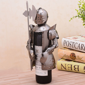 European Medieval Knight Armor Warrior Wine Rack Home Hotel Kitchen Decoration Wine Cabinet Decor Birthday Business Gift