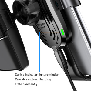 Image 5 - Baseus Wireless Car Phone Holder 10W Fast Charging Stand For Iphone 11 Pro 4.0 6.5 Inch Gravity Auto CD Slot Support Car Mount
