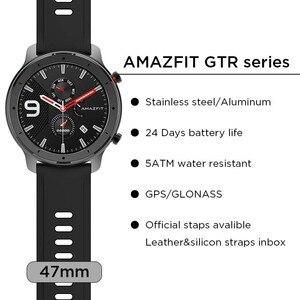 Image 4 - Amazfit GTR 47mm 42mm GPS montre intelligente hommes 5ATM étanche Smartwatch 24 jours batterie Version mondiale Huami montre intelligente