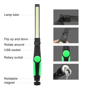 Image 3 - 5 Cái/lốc Từ Đèn Led USB Sạc COB Đèn Pin Đèn Pin Đa Năng Đèn Làm Việc COB LED Cầm Tay Ánh Cho Xe Sửa Chữa