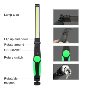 Image 3 - 5pcs/lot Magnetic Led Light USB Rechargeable COB Torch Multifunction Flashlight Work Lamp COB LED Hand Light For Car Repairing
