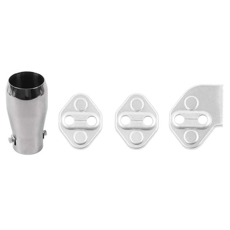Car Exhaust Tailpipes Exhaust Muffler Tail Pipe with Door Lock Switches Cover Trim 3PCS