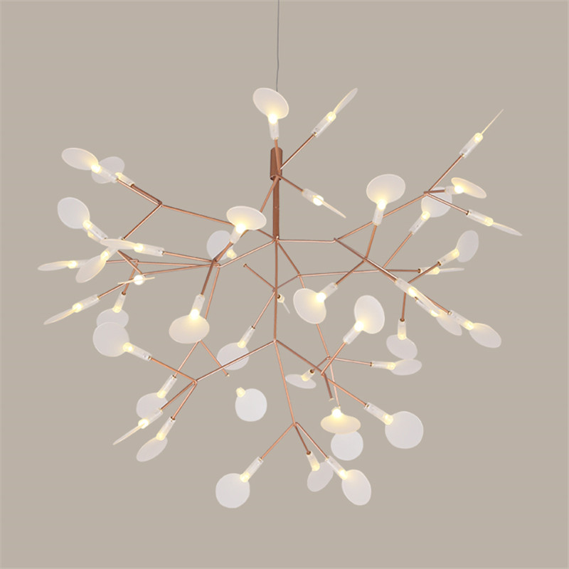 Modern Art Tree Leaves Led Dining Room Pendant Light Nodric Tree Branches Design Studio Light Fixtures Bar Coffee Light Fixtures