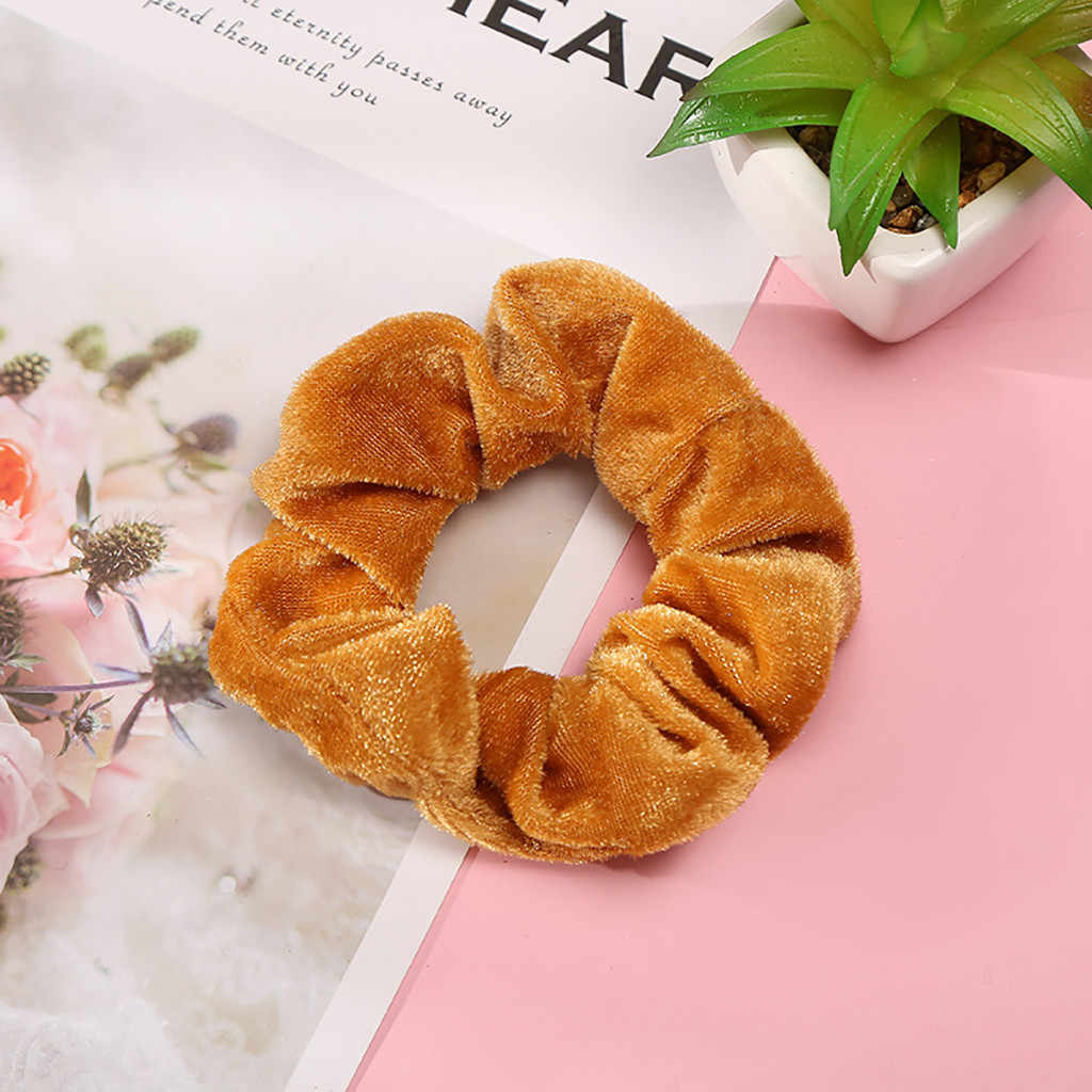 1 Pcs Velvet Scrunchie Elastic Hair Bands for Women Girls Hair Accessories Rope Ponytail Holder Headdress accesorios mujer F1011