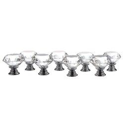 8 w 1 diamentowe meble kryształowe gałki uchwyty meblowe meble szklane gałki uchwyty do szafek drzwiowych przezroczyste w Klamki do drzwi od Majsterkowanie na