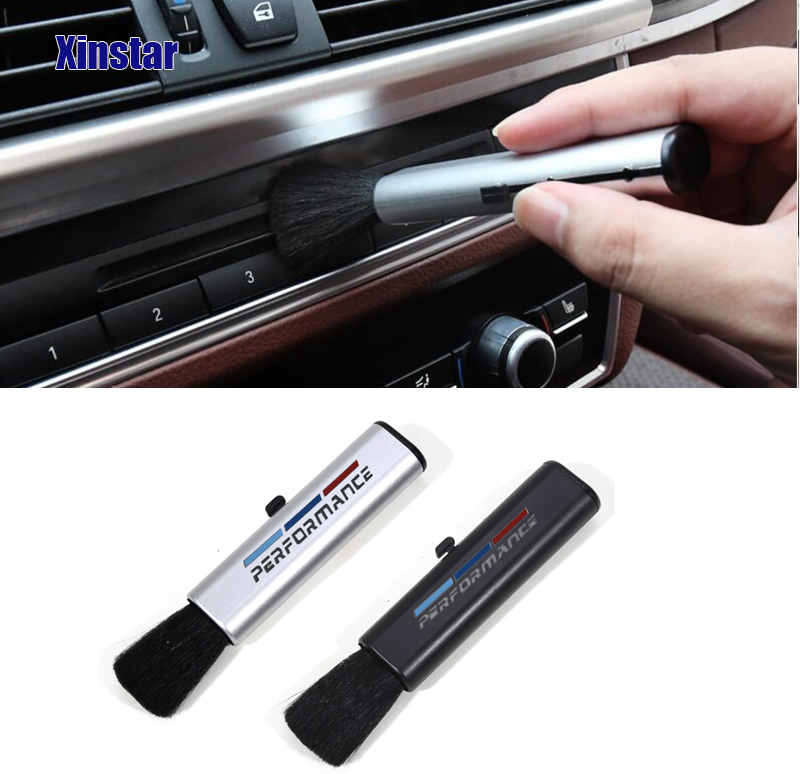 Performance Car interior Cleaning Brush sticker For BMW E30 E36 E39 E46 E53 E60 E64 E70 E83 E85 E87 E90 E92 E71(China)