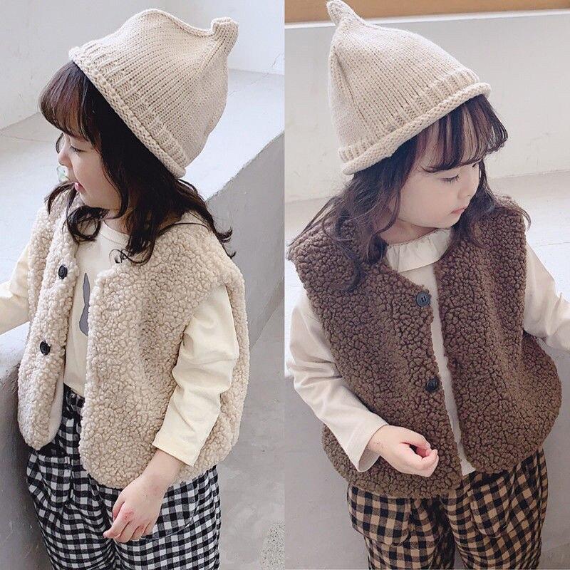 2020 Autumn Winter Baby Thick Vest Girls Boys Berber Fleece Plush Vest Baby Girl Winter Clothes
