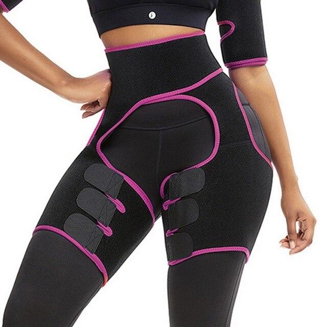 Women Neoprene Slimming Belt Sweat Body Leg Shaper High Waist Trainer Weight Loss Fat Belt Thigh Trimmer Body Shaper 1