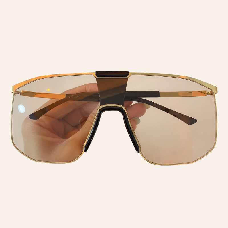 Fashion Square Sunglasses For Men Fashion Luxury Brand Classic One Piece Sun Glasses Shade UV400