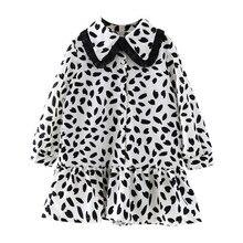 Korean Girls Dresses 2019 New Autumn Kids Girl Full Sleeve Peter Pan Collar