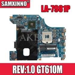 LA-7981P G480 płyta główna dla For Lenovo G480 QIWG5_G6_G9 LA-7981P REV:1.0 GT610M laptopa płyty głównej płyta główna w Test płyty głównej płyta główna