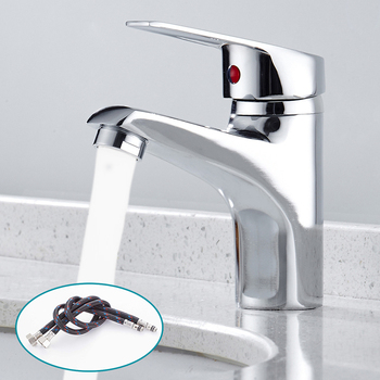 цена на Luxury Bathroom Basin Faucet Chrome Single Handle Kitchen Tap Faucet Mixer Hot and Cold Water Hose Chrome Bathroom Accessory